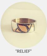 """collection relief - Bague """"végétal""""  argent et or"""