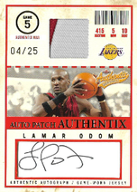 LAMAR ODOM / Auto Patch Authentix - No. AJA-LO  (#d 4/25)