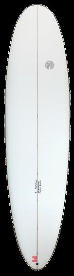 Frontansicht Malibu Surfboard