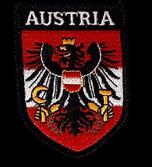Stoffwappen Austria Adler rot-weiß-rot