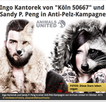 Anti-Pelz-Kampagne mit Ingo Kantorek Animals United