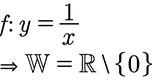 Beispiel der Wertemenge einer Bruchfunktion