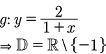 Beispiel der Definitionsmenge mit dem x im Nenner.