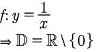 Beispiel der Definitionsmenge einer Bruchfunktion.