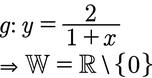 Beispiel der Wertemenge einer Funktion mit x im Nenner.