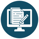 Icon  Planning tool and document management - computer
