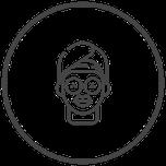 Symbol Gesichts-Maske