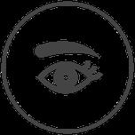 Symbol Auge-Augenbraue