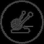 Symbol Strickzeug