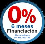 Financiación sin intereses, gastos ni comisiones.