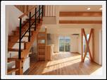 シースルー階段と吹き抜けがつくりだす大空間を愉しむ家