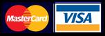 Visa- und Mastercard werden als Zahlungsmittel für die Ferienhäuser und die Ferienwohnungen akzeptiert