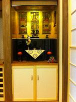 空いている収納スペースを活かした造り込み仏壇(造作仏壇)