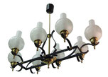 Mid Century French Style Spanish Chandelier Early 1950s By Jules LELEU