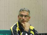 Vereinschef Manfred Scholand mit sorgenvoller Miene