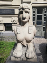 One of Riga's Art Nouveau lions.