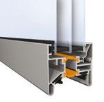energiesparende Dreifachverglasung für Sektionaltor