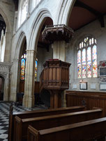 The Pulpit at St Mary's University Church, Oxford from which Newman Preached
