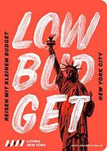 Cover des Reiseführers New York Low Budget, Reisen mit kleinem Bugdet.