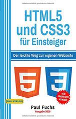 Auf dem Cover ist der Titel sowie die beiden Logos von HTML und CSS.