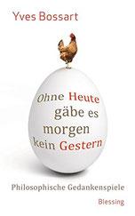 Auf dem Cover steht der Buchtitel auf einem Ei.