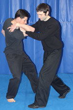 Shui Tao Internal Martial Arts instructor applying an arm lock on his student