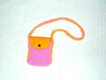 平編みでポシェットが片手でもで編めます。
