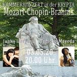 MOZART-CHOPIN-BRAHMS in der KRYPTA