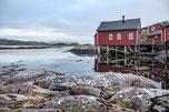 Robuer, Fischerhütten auf den Lofoten / in Norwegen