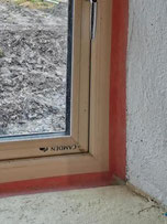 standard window tape with additional sealant