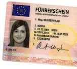 Bild eines Führerscheins wegen Einschränkung der Fahrtüchtigkeit bei der Huntington-Krankheit / Chorea Huntington