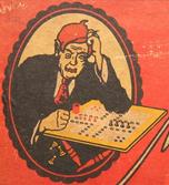 Titelfigur von ca. 1929 Werbespiel - Neckar-Schuhhaus