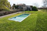 Construction de la piscine au Château La Hitte à Lavardac en Lot et Garronne