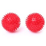 Spiky Massage Balls 8cm x 2pcs, for fitness, self-massage, knotted and tight muscles and stretching