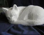 Katze Bildhauerei Katzenskulptur Steinkatze