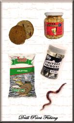 Natur-& Lebendköder, Würmer, Fleischmaden, Maden, Angelköder