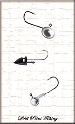 Jighaken oder auch Jighead genannt zum beködern eines Gummifisch oder Softlure Kunstköder Weichplastikköder aufziehen