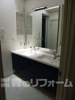 松戸市 浴室リフォーム 洗面リフォーム クロス貼り替え