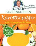 Suppenfasten nach Moll mit Fastensuppe mit Karotte Orange und Ingwer