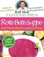 Original Suppenfasten nach Moll mit  mit Rote Bete Suppe