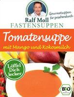 Original Suppenfasten nach Moll mit Fastensuppe mit Tomate und Mango