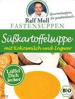 Suppenfasten nach Moll mit Fastensuppe mit Süßkartoffel und Kokosmilch
