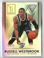 RUSSELL WESTBROOK / Titanium Retail - No 168  (#d 15/22)