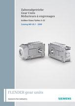 FLENDER Zahnradgetriebe Gear Units Réducteurs à engrenages Größen / Sizes / Tailles 3–22 Catalog MD 20.1 © Siemens AG 2018, Alle Rechte vorbehalten