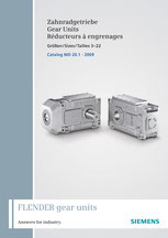FLENDER Zahnradgetriebe Gear Units Réducteurs à engrenages Größen / Sizes / Tailles 3–22 Catalog MD 20.1 © Siemens AG 2020, Alle Rechte vorbehalten
