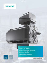 SIEMENS - SIMOTICS FD Low-Voltage Motors Frame sizes 315 to 450 Power range 200 to 1800 kW - Catalog D 81.8 - Edition 2017 © Siemens AG 2020, Alle Rechte vorbehalten
