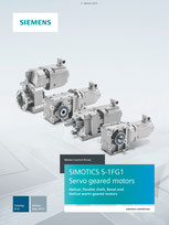 SIEMENS - Servo geared motors SIMOTICS S-1FG1 Helical, Parallel shaft, Bevel and Helical worm geared motors - Catalog D 41 - Edition May 2019 Siemens AG 2020, All rights reserved