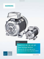 Low-Voltage Motors SIMOTICS GP, SD, XP, DP Type series 1FP1, 1LE1, 1LE5, 1MB1 and 1PC1 Frame sizes 63 to 355 · Power range 0,09 to 500 kW Catalog D 81.1 © Siemens AG 2019, All rights reserved