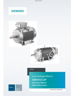 Low-Voltage Motors SIMOTICS DP, Steel plant Motors, Roller table motors - Catalog © Siemens AG 2020, All rights reserved
