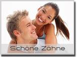 Schöne, weiße Zähne mit Bleaching ( Zahnaufhellung ), Veneers und Keramikfüllungen (© Yuri Arturs - Fotolia.com
